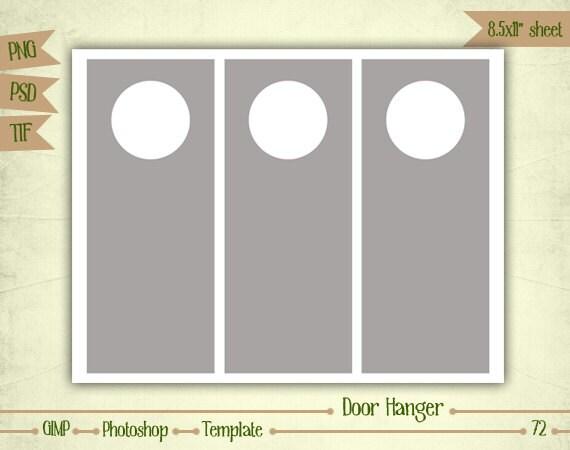 Door Hangers Digital Collage Sheet Layered Template T - Door hanger photoshop template