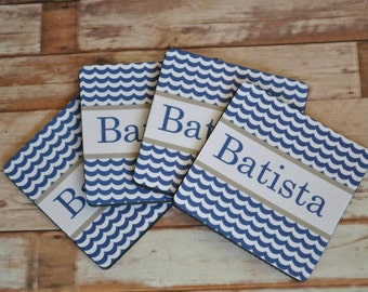 Personalized Coasters, hostess gift, monogrammed favors, engagement gift
