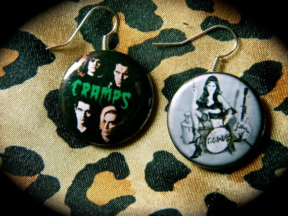 The Cramps Button Earrings.
