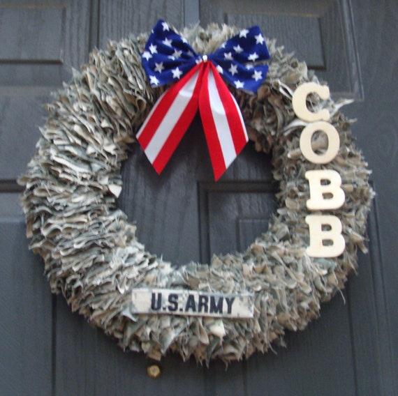 Home Decor Wreaths: Items Similar To Door Decoration, Home Decor, Military