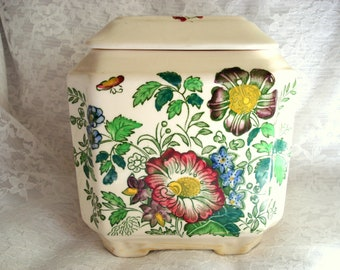 Biscuit Jar Mason's Rosemary Shelton Ironstone Made in England Vintage