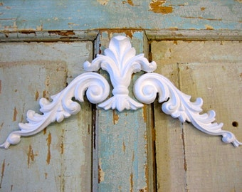Shabby Chic Architectural Shield with Scrolls