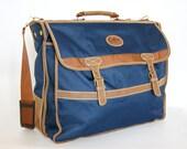 Vintage 1980s satchel style travel, weekend, flight, gym, holdall bag
