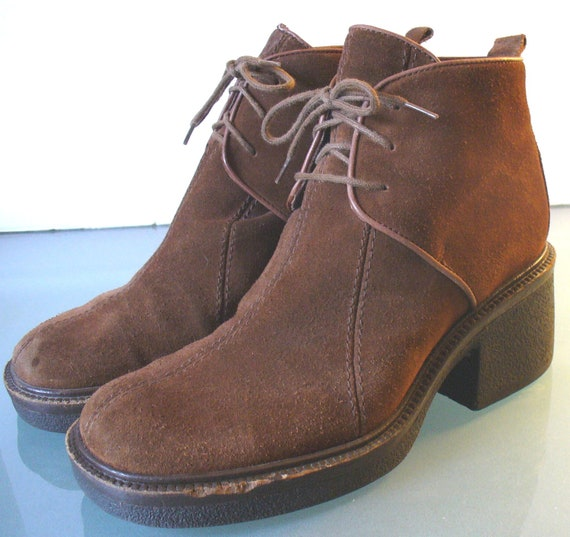 via spiga suede desert boots made in italy