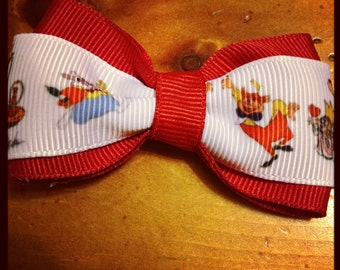 Alice in Wonderland Hair Bow - 2 inches