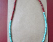 Mixed Turquoise & Coral Necklace