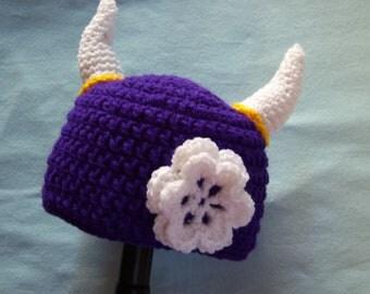 Purple Girls Viking Hat-Toddler