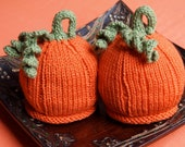 Newborn Twins Baby Pumpkin Hats Perfect for Photography Props