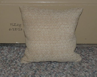 "ON SALE! - Beige/Light Tan Decorative Pillow - 11""x11"""