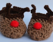 Reindeer Feet - Infant Slipper Socks for the Holidays