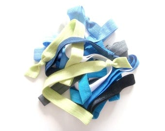 Pick 3 Handmade Elastic Headbands, Customize, Personalize, 48 Solid Colors to Choose From,