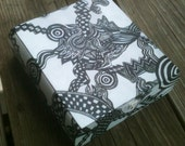 Custom Hand Painted and Decorated Wooden Cigar Box