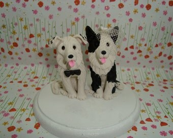 Personalized Dog Wedding Cake Topper