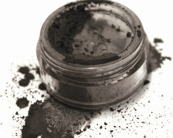 Inked . Matte Mineral Eyeshadow . Loose Mineral Makeup . Smokey Eye . Black Eyeliner . Natural Makeup