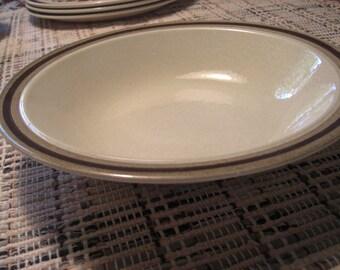 Royal China USA Aztec Pattern - Omegastone Large Rimmed Serving Vegetable Bowl