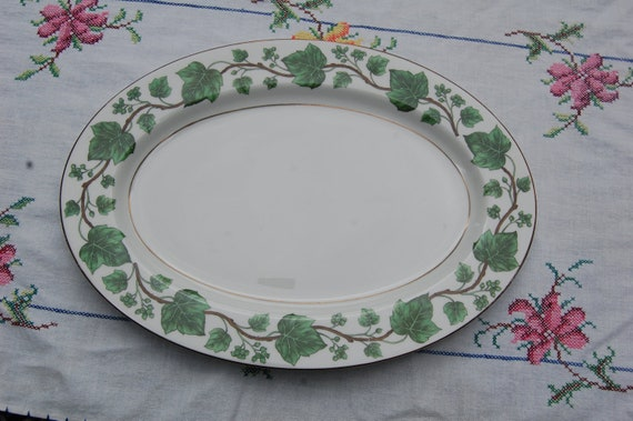 Large Oval Platter Royal Jackson Vogue Ceramic By