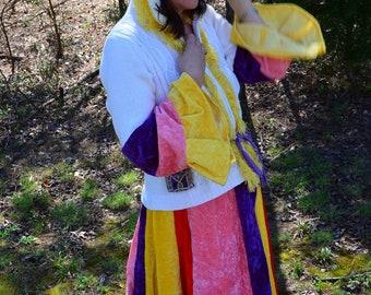 Upcycled Gypsy Coat-Festival Coat ALR064