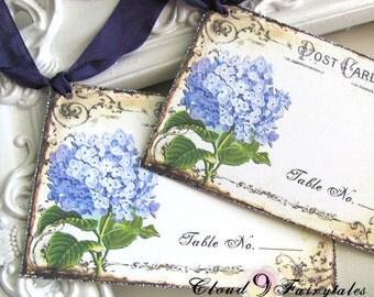 Escort Cards / Wedding / Place Cards / Seating Chart / Reception / Garden Hydrangeas Purple / Set of 50