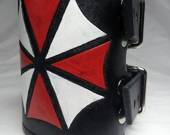 Resident Evil Umbrella Corporation Wrist Cuff / Bracelet - Black
