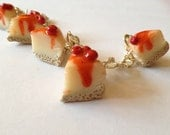Cherry Cheesecake Charm Bracelet