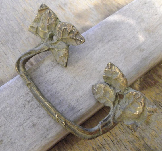 SALE Antique brass cabinet or drawer pull handle  Hardware Mixed media Supplies