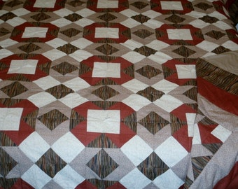 X's and O's or Hugs and Kisses Queen Quilt