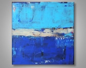 Original Abstract Painting Blue Light Blue Beach Canvas MADE TO ORDER TiedemannArt