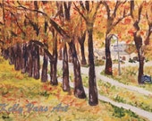 The Ave, Saint Mary's College, Notre Dame, IN 8.5x11 Watercolor Print