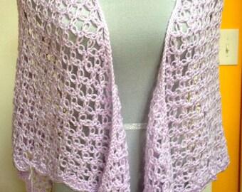 Solomon's Knot Shawl - Color: Lilac
