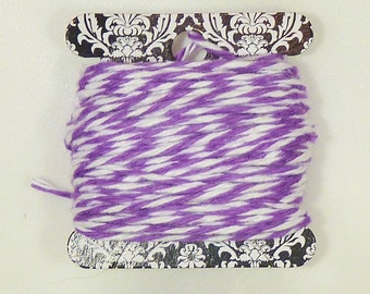 Bakers Twine - 6 Yards PURPLE Twisted Twine - Stationery, Packages, Homemade Gifts, Tags, Cards, DIY, Crafts, Shower, Party