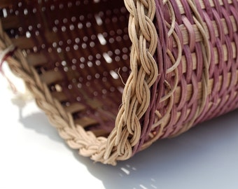Woven Purple Vase Basket for holiday decor