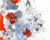 Orangery - 5x7 digital print of original artwork