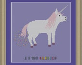 I fart glitter: funny unicorn cross-stitch pattern