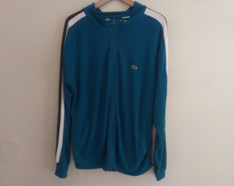 80s green Lacoste sweatshirt eighties with few stains