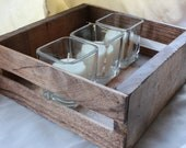 Handmade Distressed Wooden Crate/Centerpiece in Early American Stain