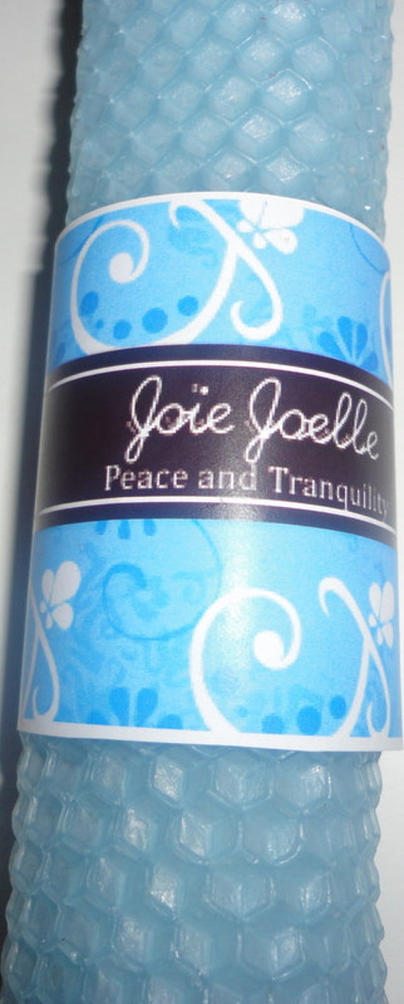 Peace & Tranquility Blue White Spell Candle Set for relaxation, serenity, calmness, healing