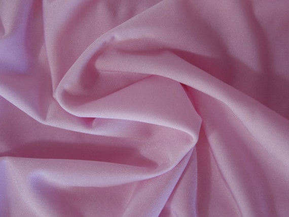 Baby pink nylon Lycra 4 way stretch knit fabric, by the yard