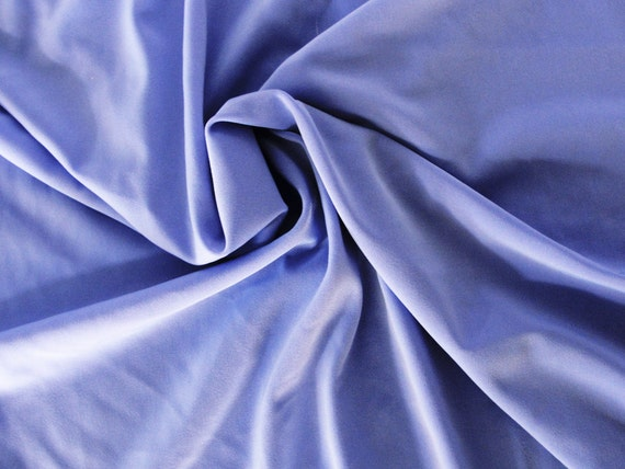 Periwinkle nylon spandex stretch knit fabric, by the yard
