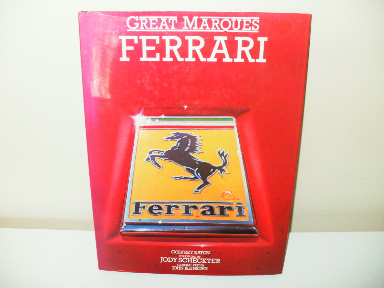 Great Marques Ferrari Coffee Table Book By Godfrey Eaton 1983