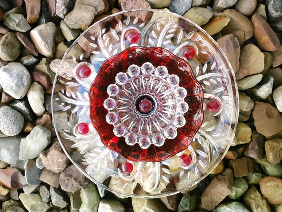 Items similar to recycled glass flower sun catcher garden for Recycled glass flowers