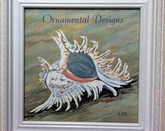 Shell on the Shore  Original Framed Painting