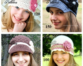 Crochet Hat Pattern 2 For 9.00 Crochet Patterns PDF Sale Pack Combo Deal - Instant Download