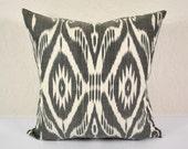 IKAT PILLOW 20x20 Decorative Pillow 20x20 Home Decor black & white throw Pillow Covers MPI102