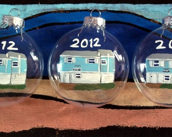 Three Custom House Portrait Ornaments of the Same House or Different Houses