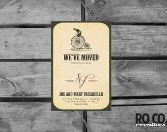 Vintage Moving Announcement Card