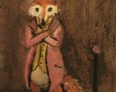 Fine Art PRINT Brown, Fox, Animals - The Hustler Fox