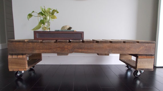 Photo Update - Industrial Pallet Coffee Table -