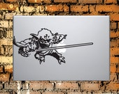 Yoda Macbook or Laptop Decal