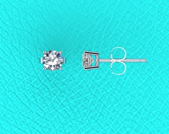 14K white gold 0.25ct Diamond Stud earrings