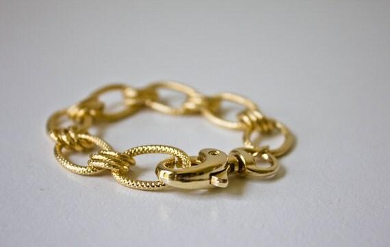 Gold chain bracelet: Gwen